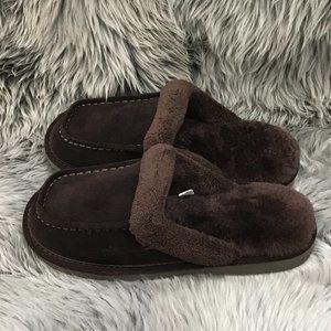 Nuknuuk Men's Leather Slipper's   Size 9   Brown